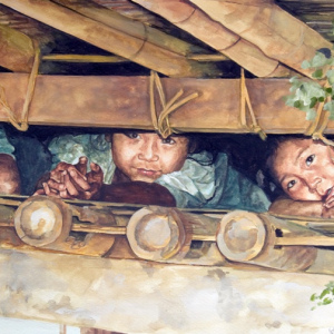 Paintings by Maung Maung Tinn.